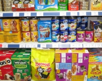 Range of pet food on display at Radley Village Shop