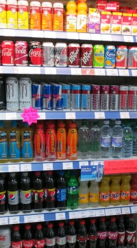 Chilled soft drinks on display at Radley Village Shop