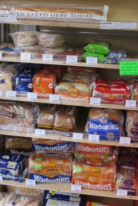 Bread products on display at Radley Village Shop