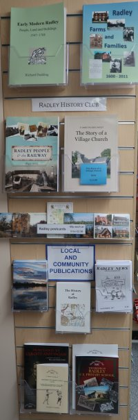 Radley History Club publications on display at Radley Village Shop