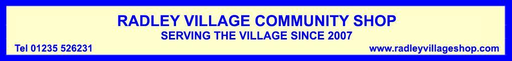 Radley Village Shop banner