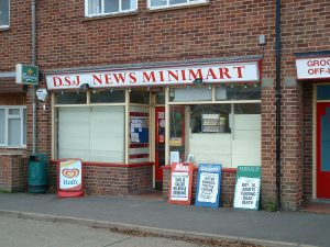 Former newsagents on Church Road at the site of Radley Village Shop