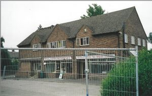 Demolition of old shop block and flats is imminent. July 2005