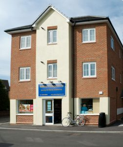 Exterior of Radley Village Shop pictured on opening day, 22 May 2007