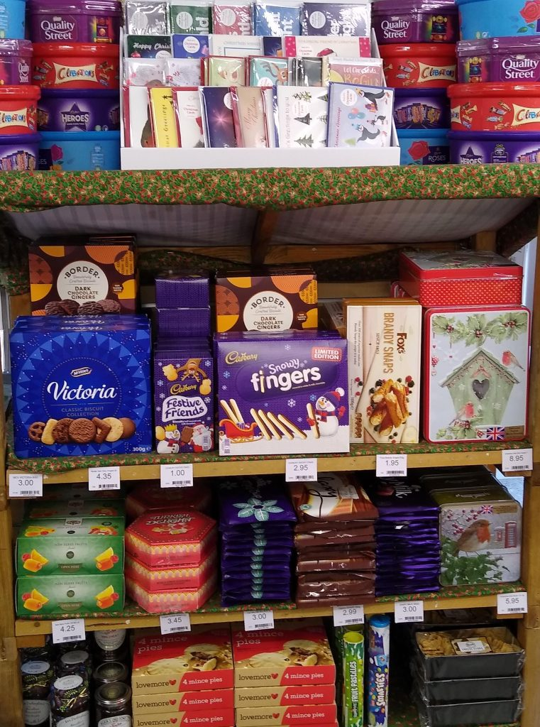 Christmas display in Radley Village Shop, 2020