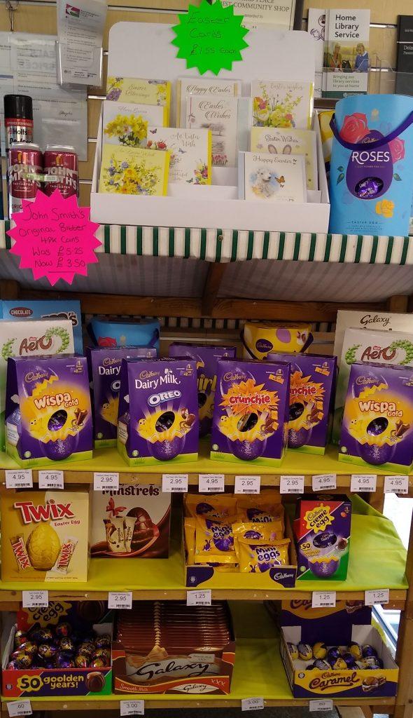 Easter display at Radley Village Shop, 2021
