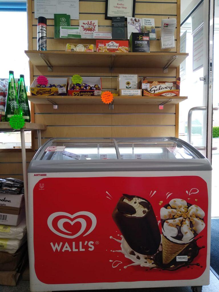 Ice cream freezer back, April 2021