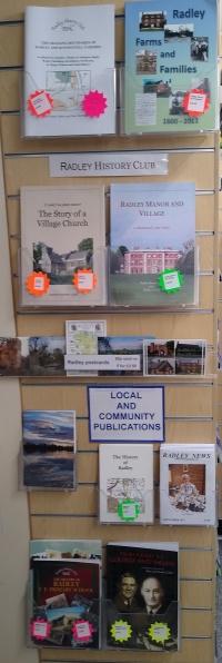 Local Publications display at Radley Village Shop